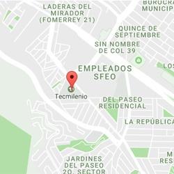 Mapa Tecmilenio Las Torres Monterrey