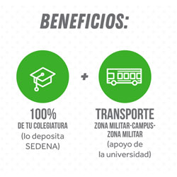 Beneficios de CECOBECAS SEDENA en Tecmilenio